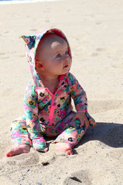 BABY ONE PIECE SWIMSUIT - BABY POPPIES