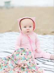 BABY BEACH TOWEL WITH HOODIE - BABY POPPIES