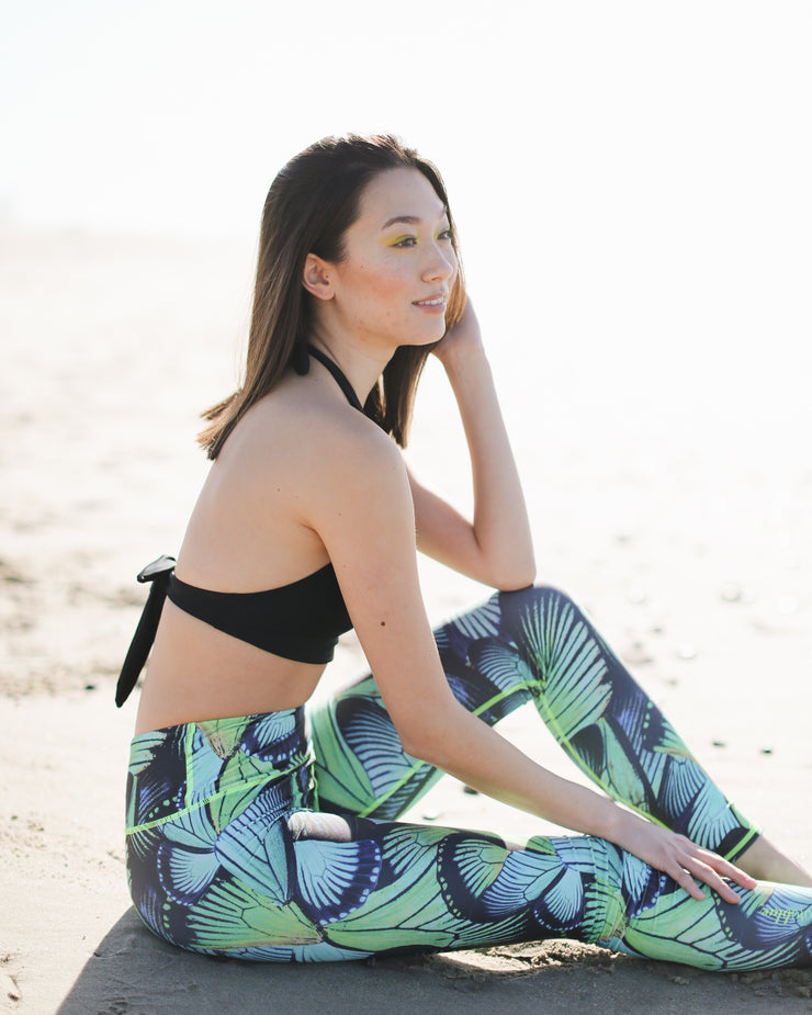 WOMEN'S HI-WAIST LEGGINGS  - TURQ FLYER *NEW PRODUCT