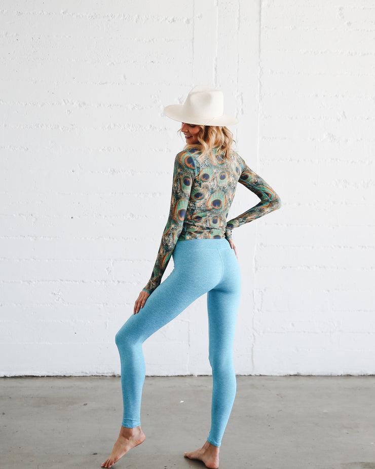 WOMEN'S HI-WAIST LEGGINGS  - TURQ **NEW PRODUCT**