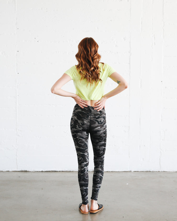 WOMEN'S HI-WAIST LEGGINGS  - STORM