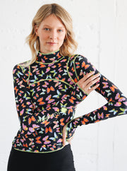 WOMEN'S PULLOVER RASH GUARD - BUTTERFLY