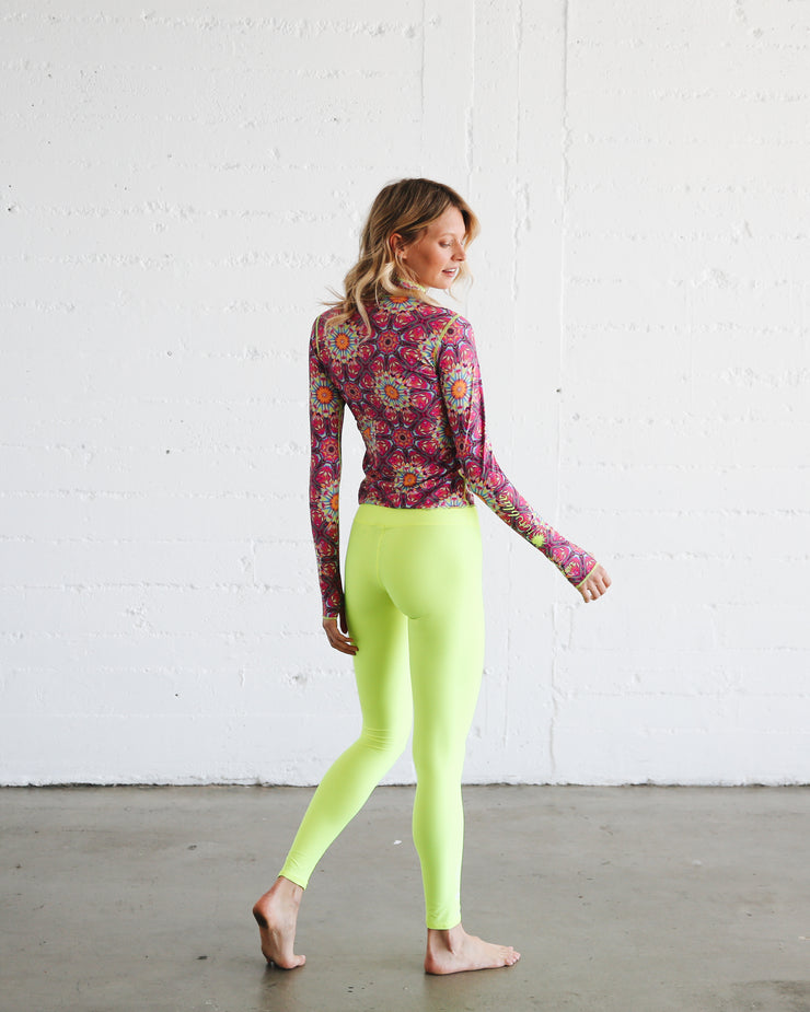 WOMEN'S HI-WAIST LEGGINGS  - NEON YELLOW **NEW PRODUCT**