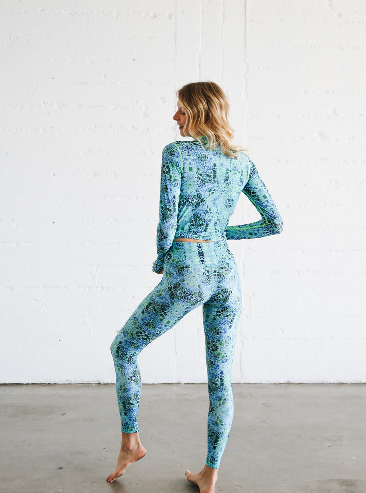 WOMEN'S HI-WAIST LEGGINGS  - DEEP SEA *NEW PRODUCT