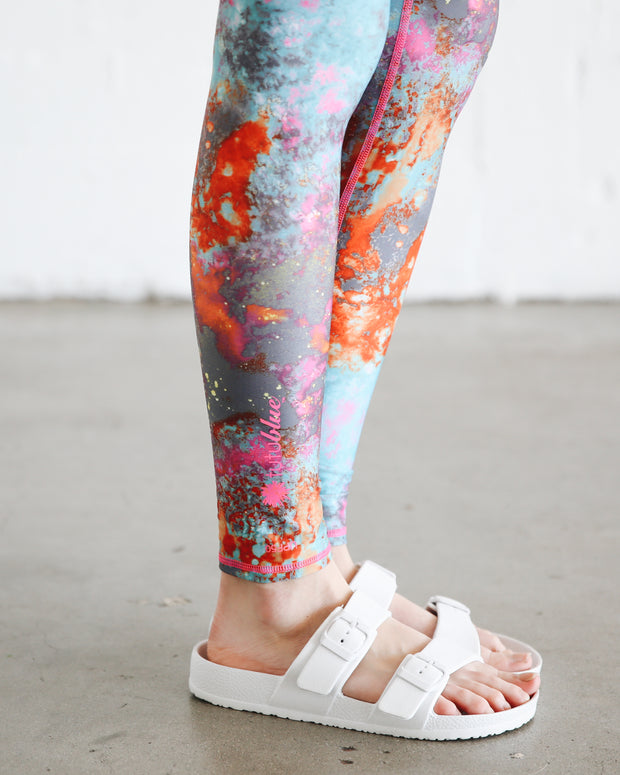 WOMEN'S HI-WAIST LEGGINGS  - KOI POND