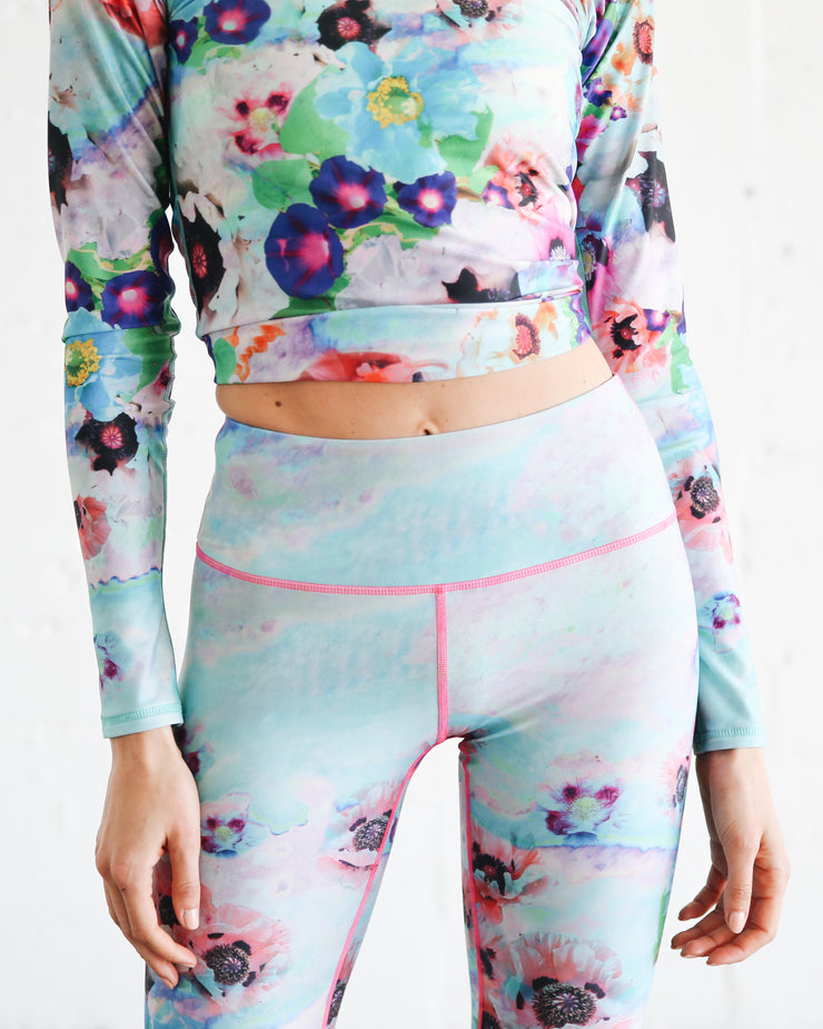 WOMEN'S HI-WAIST LEGGINGS  - SEA POPPIES **NEW PRODUCT**