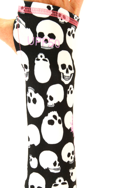 GIRL'S LONG SWIMSUIT - SKULKING AROUND