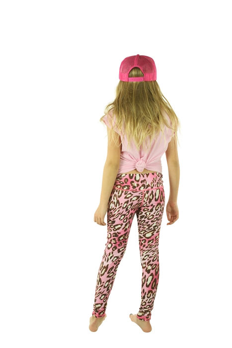 GIRL'S LEGGINGS - PINK LEOPARD