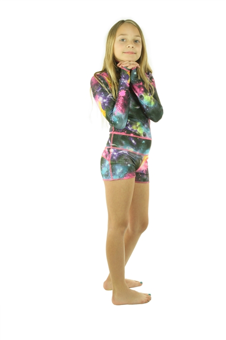 GIRL'S SHORT SWIMSUIT - GALAXY