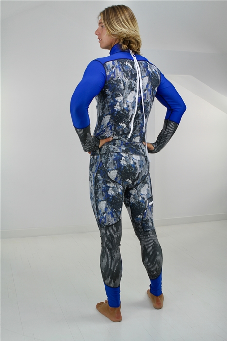MEN'S LONG SWIMSUIT - BLUE ROCK