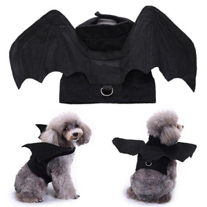 Halloween Pet Dog Puppy Bat Shape Clothes Soft Cosplay Costume Vest Costume Clothes
