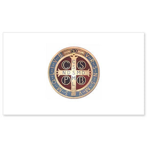 Benedictine Medal Folded Note Cards