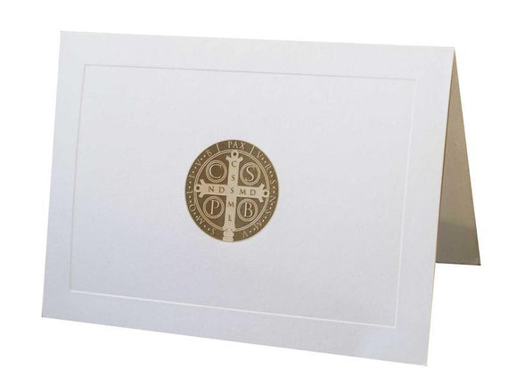Bronze Saint Benedict Note Cards