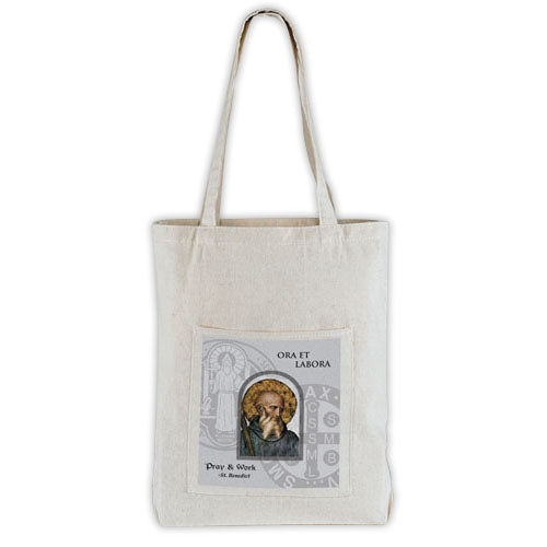 St. Benedict Canvas Tote Bag