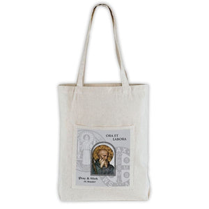 Saint Benedict Canvas Tote Bag