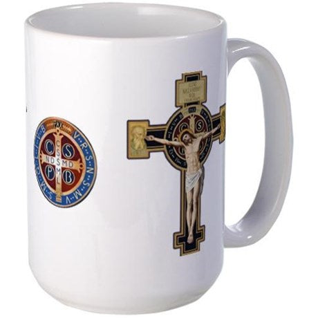 Benedictine Crucifix & Medal Mug