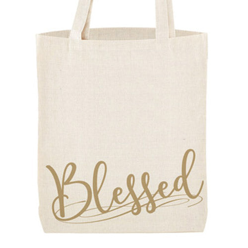 Blessed Tote Bag With Inside Pocket