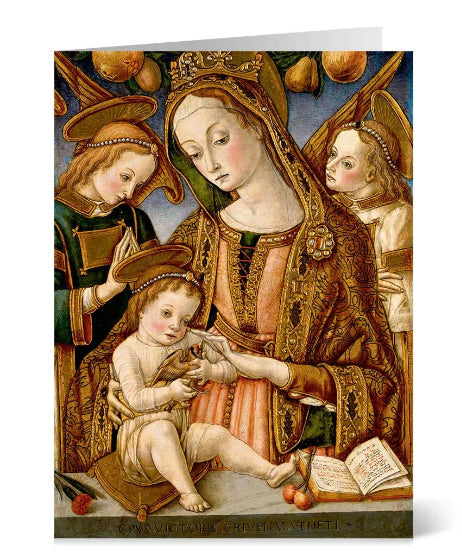 Madonna & Child Christmas Card by Crivelli