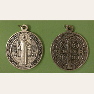 Saint Benedict Medal Silver Tone