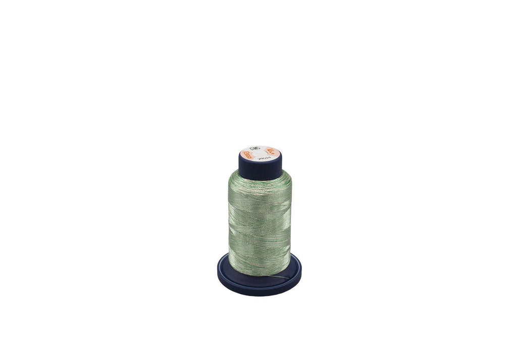 Ultrapos G Metallic #GM5, Variegated Multi-Color Mint Green and Silver 880yds/cone