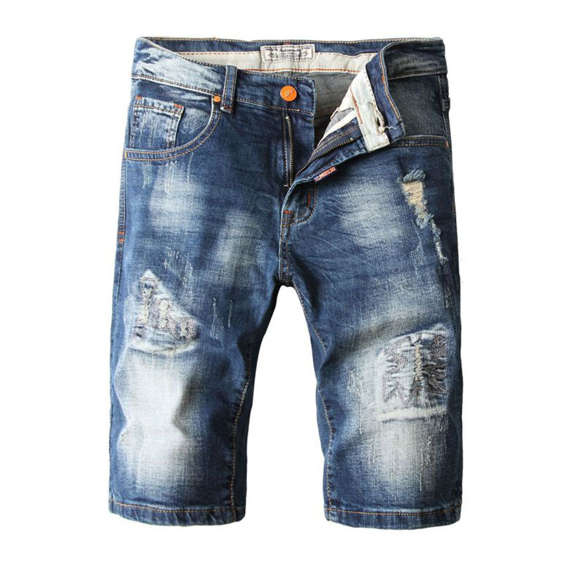 Parva Ripped Denim Shorts