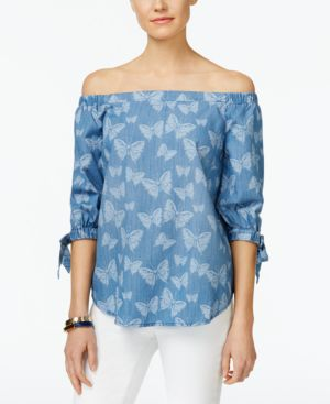 INC International Concepts Women's Concepts Off-the-Shoulder Top