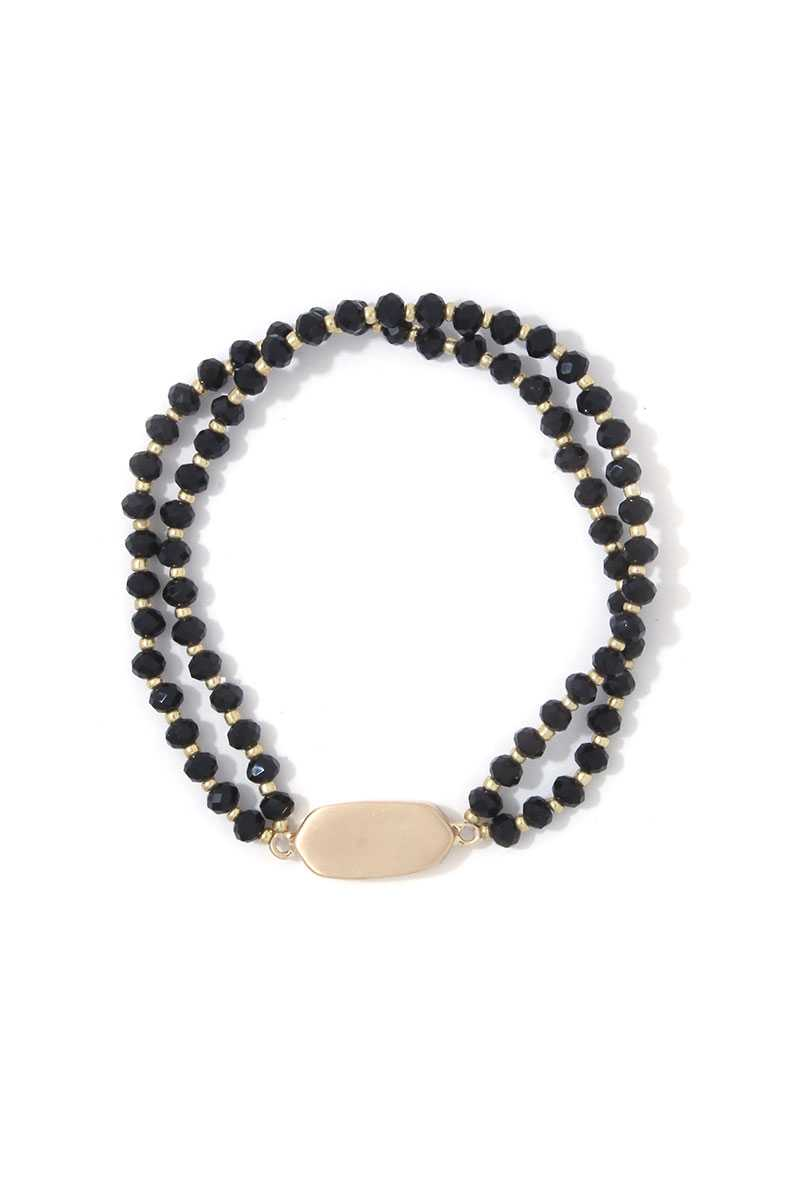 Oval Beaded Stretch Bracelet