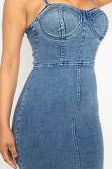 Acid Wash Denim Mini Dress