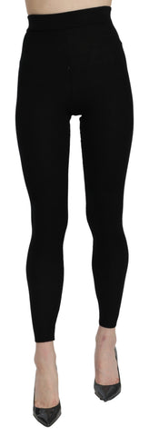 Black High Waist Leggings Cashmere Pants