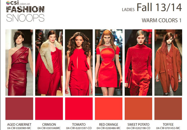Colour Solutions International Ladies Fall 13/14 Warm Colours 1