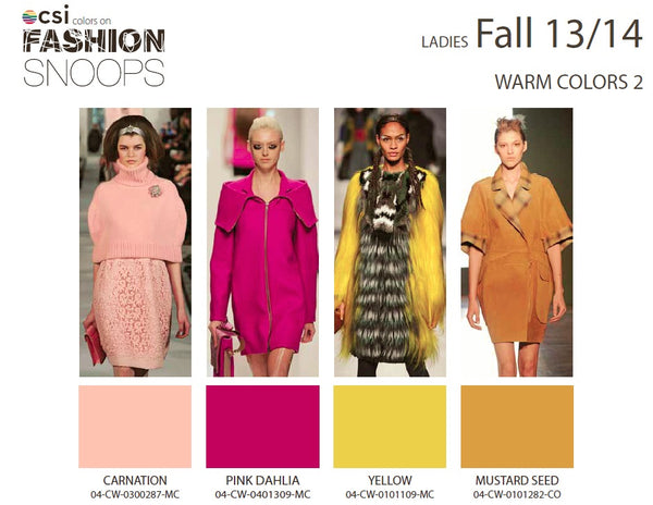 Colour Solutions International Ladies Fall 13/14 Warm Colours 2