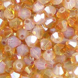 4mm Glass Bicone beads from Bead Stampede