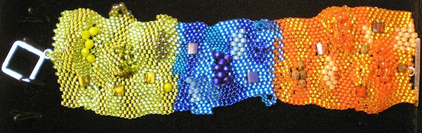Freeform peyote bracelet using Bead Stampede beads