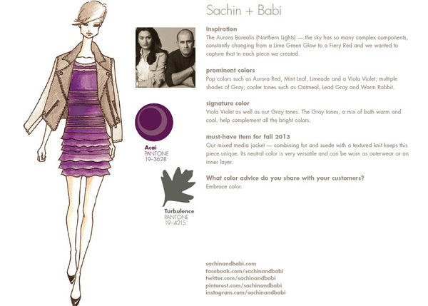 Sachia + Babi Fall Winter Autumn 2013 Pantone Color Report Forecast