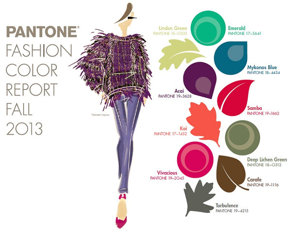 Pantone Fashion Color Report Autumn 2013