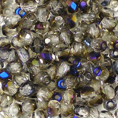 Crystal Azuro - 3mm Czech Fire-Polished Beads