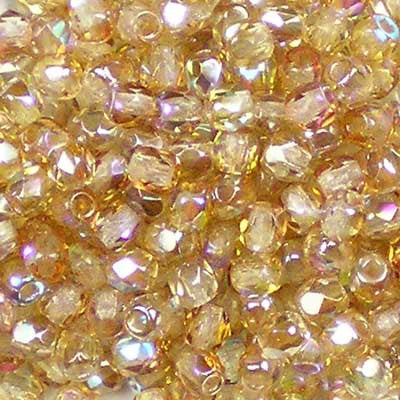 Crystal Rainbow Brown - 3mm Czech Fire-Polished Bead