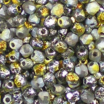 Etched Crystal Marea - 3mm Czech Fire-Polished Beads