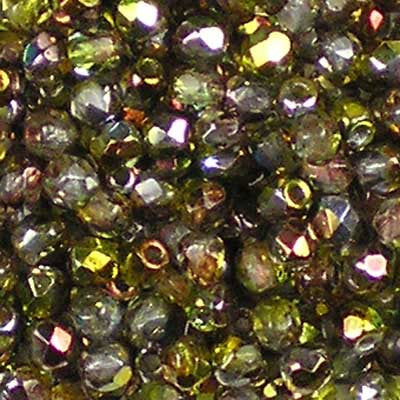 Magic Green - 3mm Czech Fire-Polished Beads