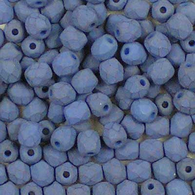 Saturated Dark Teal Blue - 3mm Czech Fire-Polished Beads