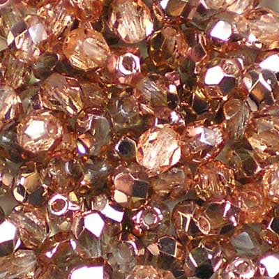 Apollo Gold - 4mm Czech Fire-Polished Beads