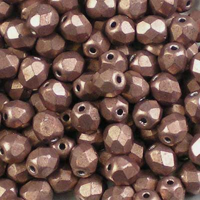 ColorTrends: Metallic Autumn Maple - 4mm Czech Fire-Polished Beads