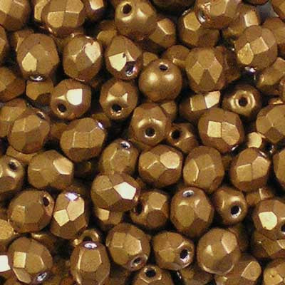 ColorTrends: Metallic Flame - 4mm Czech Fire-Polished Beads