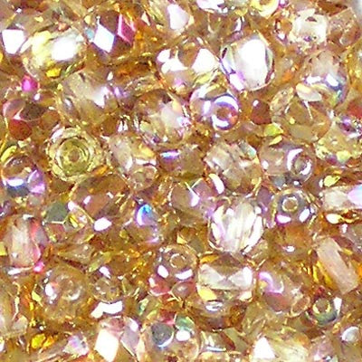 Crystal Rainbow Brown - 4mm Czech Fire-Polished Beads