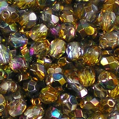 Magic Copper - 4mm Czech Fire-Polished Beads