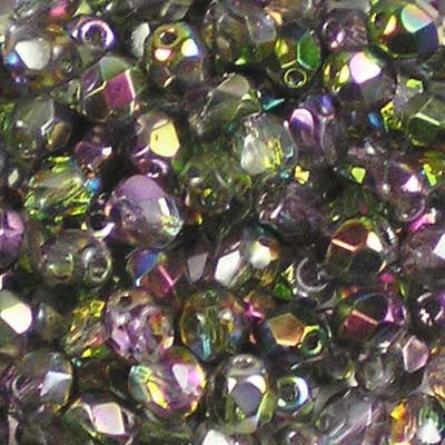 Magic Orchid - 4mm Czech Fire-Polished Beads