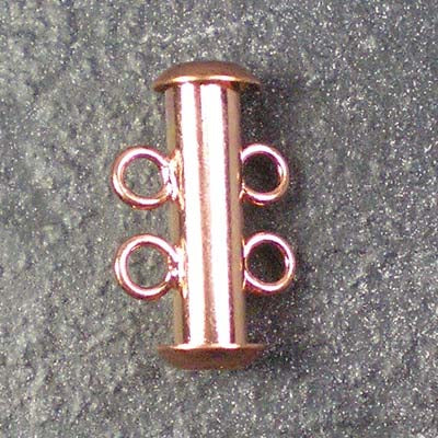 Two-Strand Copper-Plated Tube Slide Clasp