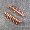 Four-Strand Copper-Plated Tube Slide Clasp