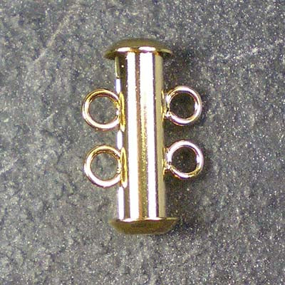 Two-Strand Gold-Plated Tube Slide Clasp