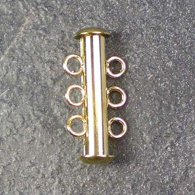 Three-Strand Gold-Plated Tube Slide Clasp
